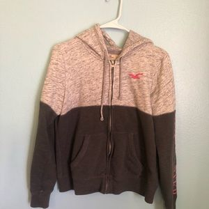 Hollister grey hoodie in great condition